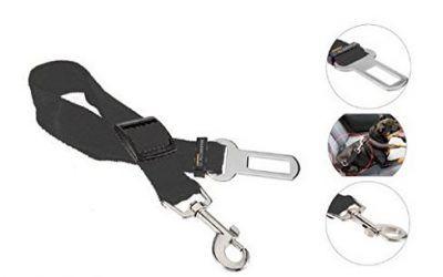 Iyanla ajustable mascota coche cinturón de seguridad plomo–perros/gatos/mascotas–Negro