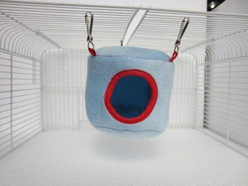 Azul hamacas nethara cama casa rata hámster hurones loro juguete del ratón del pájaro , mascotas