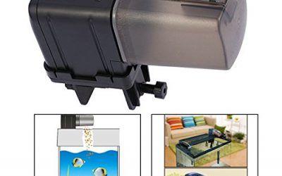 Itian Alimentador automático de peces – Alimentador de Peces Automático, con Exhibición del temporizar en Pantalla LCD, fish feeder
