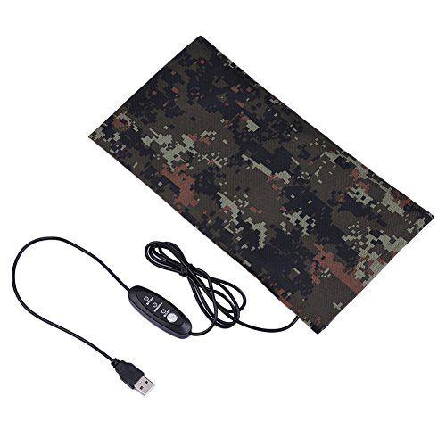 Estera de calefacción de reptiles Hoja de calentamiento USB Fibra de carbono para animales pequeños con interruptor para control de temperatura Tamaño S (Con controlador de interruptor)