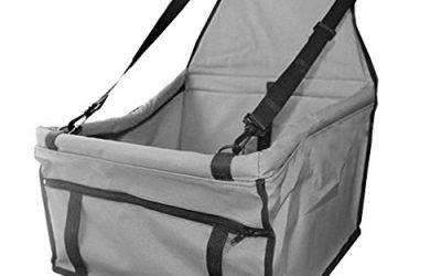 CADANIA Asiento de Carro para Perros Plegable Cama Hamaca Impermeable Pet Mat Cover Bolsa para Perros – Gris Claro