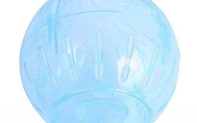 Hianiquaime® Hámster Corriendo la Pelota Mini Suave Hámsters Ejecutando Juguetes Interactivo Fitness Running Ball Juguete para Hámster Rata Ratones Mascota Petit y Otros Roedores Azul