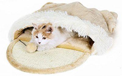 Taoking – Cama con refugio para gatos grandes, calefacción