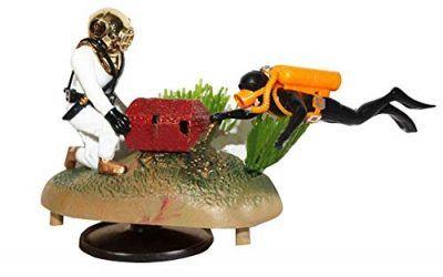 Doble cazador de tesoros Diver Figura de acción Acuario Adorno de acuario Adorno Decoración del acuario Paisaje , mascotas