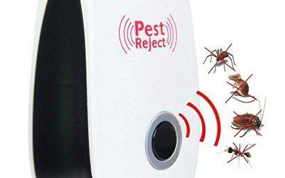 Repelente De Plagas Ultrasónico, Enchufe Electrónico En Rechazo De Repelente De Plagas De Control Plagas De Ratones, Arañas, Insectos, Chinches, Hormigas, Mosquitos, Ratas, Cucarachas Y Otros Insectos