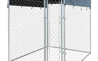 vidaXL Perrera de Exterior con Toldo Acero Galvanizado 2×2 m Jaula de Perros