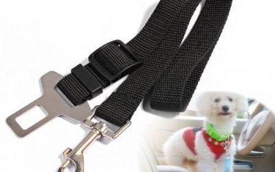 Mudder Perro Cinturón de Seguridad, Perro Gato Coche Seguridad Asiento cinturón arnés Ajustable Lleva arnés para Coches vehículo, 2Unidades