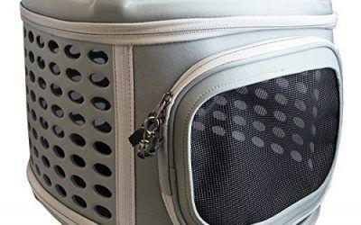 Pet Magasin Bolsa de transporte de mascotas plegable y portátil con tapa dura – Transportín de tela resistente y ligera para viajes con techo y suelo rígidos, para gatos, perros pequeños y cachorros