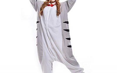 LPATTERN Cosplay Disfraz Pijamas Animales Carnaval Fiestas Partidos Franela Adultos Mujer Hombre Gato M Gris