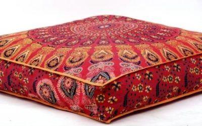 Funda de cojín con diseño de mandala india, de Bhagyoday Fashions, cuadrada, para cama de perro y mascotas