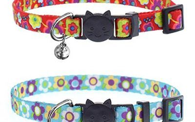 ABIsedrin Collar de Gato con Campanas y Hebilla de Seguridad de Liberación Rápida. Ajustable y Adecuada Hebilla Collar de Gato para Gatos domésticos (Rojo y Azul)