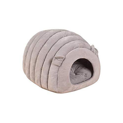 Cama de Perro Nido Mascota Gato Funcional casa de Perro caseta casa Cama Gato Lavable Algod/ón Nido Perro C/álido Nido