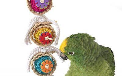 Keersi Juguete para picar para pájaros, ideal para loros, guacamayos africanos, periquitos grises, y cacatúas