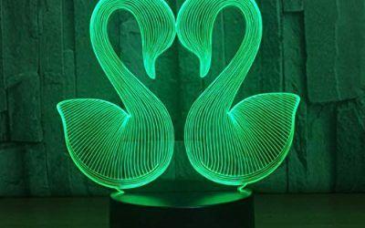 Luz Nocturna Lámpara 3D Swan 7 Color Led Night Lamps For Kids Touch Mesa Usb Lampara Lampe Baby Sleeping Nightlight Drop Ship Nursery Lamp , mascotas