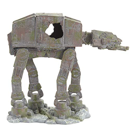 Pet Ting Star Wars AT-AT Fighter Adorno para Acuario y decoración de viario