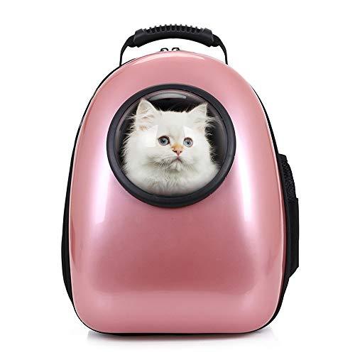 Petcomer Mochila C/ápsula Impermeable Transport/ín en Forma de Burbuja para Mascotas Perros Gatos Negro