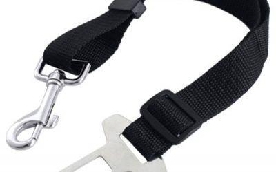 Coolcase Arnés de retención para perro para cinturón de seguridad (negro)