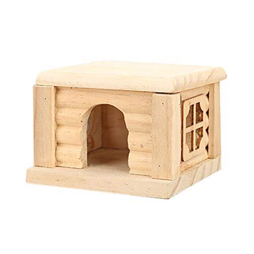 Betteros Hamster Toys Hamster House, Natural Living Castillo de Madera Roedor Juguetes para Mascotas Ratones Juegos para Animales pequeños Masticar Juguete