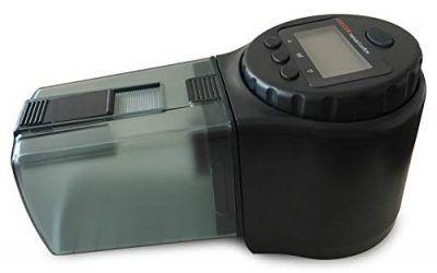 LEECOM Alimentador Automático de Peces | Comedero Programable de Alta Calidad | Última Tecnología LCD | Ideal para Acuario, Pecera, Tanques de Peces y  Tortugas | Conviene para Todo Tipo de Alimentos , mascotas