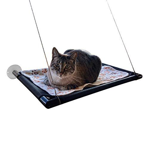 Camas para Ventanas con Ventosa – Cama Hamaca para Gato Estantes de Seguridad para Asientos de Descanso para Mascotas – Perca Durable del Animal Doméstico con 4 Ventosas Grandes