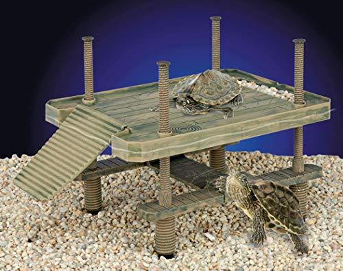 Penn-Plax Gran Tortuga Muelle para Uso en y Fuera del Agua te bronceas Plataforma para pequeñas Reptiles