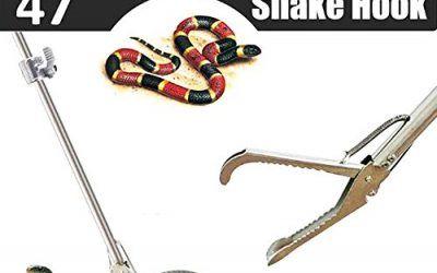 Yomyray Profesional Serpiente Catcher 120 Cm Pinza De Serpiente Plegable con Mango Antideslizante, Herramienta Profesional para Mover Serpientes y Reptiles(Incluye Snake Bag (120 cm)