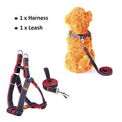 Sopito arnés con Correa Ajustable de Vaquero para Mascotas Perro,Gato,cinturón de Pecho y Espalda,Hombro para Llevar Perros con Seguridad para Perro pequeño,Mediano,Grande (Rojo, XS)
