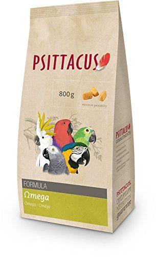 Psittacus  – Alimento para pájaro  fórmula omega plumaje 800 gr.