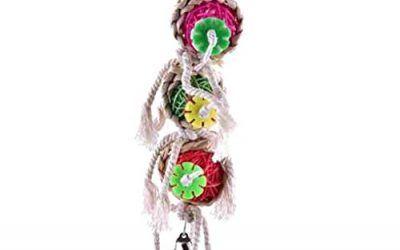 Lorsoul Juguetes de la Bola Loro Mascotas mordeduras de Aves Subida Chew Toys, Colgantes Periquito Cockatiel Oscilación del Loro de la Jaula Juguetes de Aves