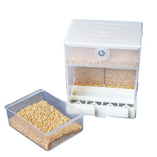 KidsHobby Comedero Pajaros Automático, Comederos para Pajaros Alimentador de Pájaros Contenedor de Alimentos para Periquito Canario Cockatiel