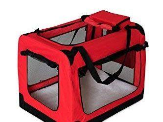 dibea TB10051 Bolsa de Transporte para Perros y Gatos, Rojo, (M) 60x42x44 cm