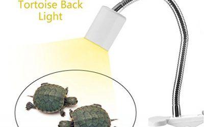 Laurelmartina Emisor de Calor de rotación de 360   Grados Emisor de luz Ultravioleta de la lámpara de luz UVB para Mascotas Anfibios de Peces de la Tortuga