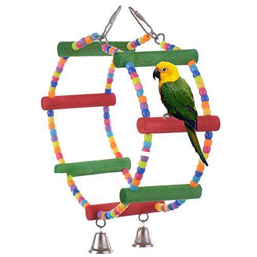 LianLe Juguete de madera para pájaros – periquitos – loros