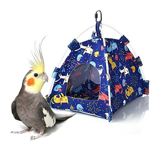 Keersi – Tienda de campaña Colgante para pájaros, para periquitos, periquitos, cacatúas, Canarios, pájaros, Perchas, pequeños y medianos