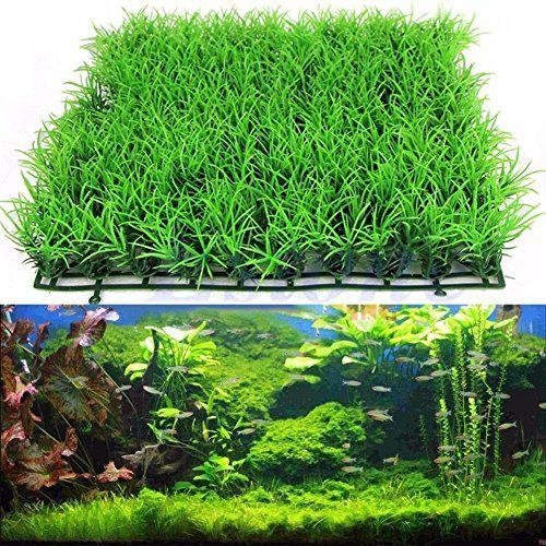 Hemore – Césped Artificial de Hierba de Agua, plástico, para decoración de Peces, 25 x 25 cm