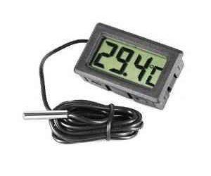 Omkuwl Termómetro de acuario LCD digital con termómetro de agua del refrigerador de sonda , mascotas