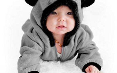 Cuddle Club Mono Polar Bebé para Recién Nacidos a Niños 4 Años – Pijamas Infantiles Chaqueta de Invierno Abrigo Polar Niño Mono de Niños – BearGrey12-18m