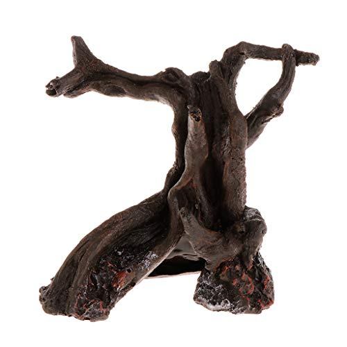 Acuario de madera muerta de resina artificial para decoración de pecera, adorno para plantas, paisajes, árboles, reptiles, raíces, suministros de decoración