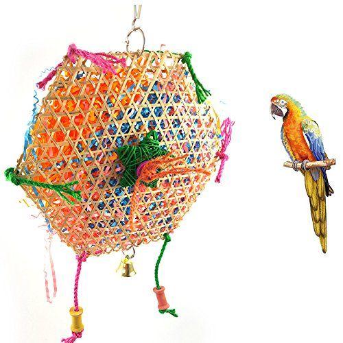 milopon juguete para pájaros, bambú trenzado, juguete de Macher columpio para periquito Volière fults compañía
