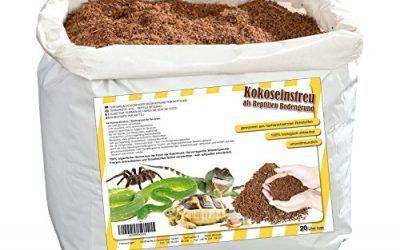 Humusziegel – 20 litros Natural terrario substrat múltiple en Bolsa de Seca – 100% Puro Coco Tierra como sustrato einstreu de Coco de Suelos , mascotas