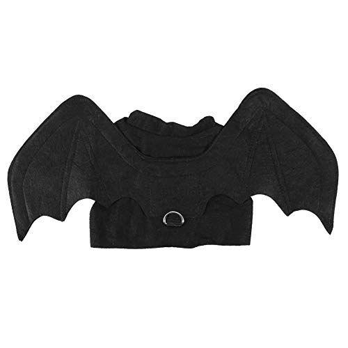 Pssopp Disfraces para Mascotas, Perro Divertido Disfraces de Halloween Mascotas Alas de murciélago Ropa de Disfraces de murciélagos de Gato para la Fiesta de Navidad Decoraciones navideñas(L)