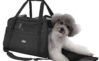 Nobleza – Bolso transportín de Viaje Plegable para Perros y Gatos. Tela Oxford, Talla L, (48 * 25 * 33) cm